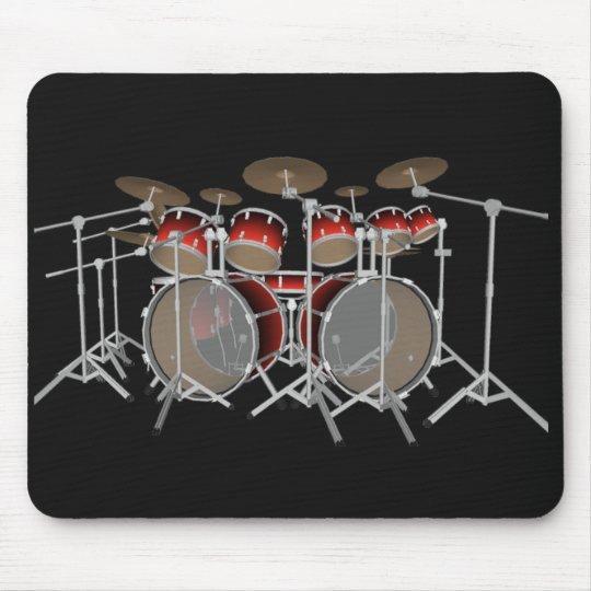 10 Piece Drum Kit: Red Set: Drums Mousepad