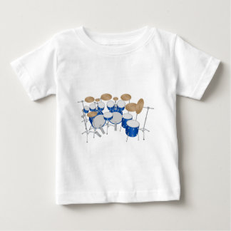 10 Piece Drum Kit: Vector Drawing: Baby T-Shirt