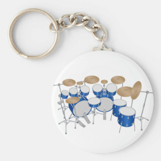 10 Piece Drum Kit: Vector Drawing: Key Chains