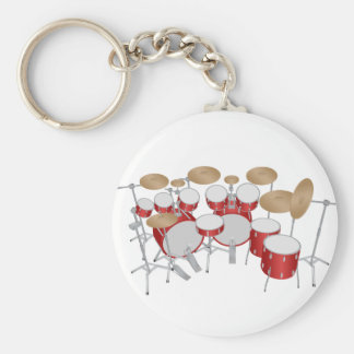 10 Piece Drum Kit: Vector Drawing: Keychain