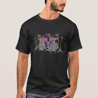 10 Piece Drum Kit: Violet Gradient: Black T-Shirt