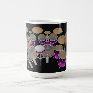 10 Piece Drum Kit: Violet Gradient: Coffee Mug