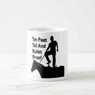 10 pies de alto y prueba de la bala taza