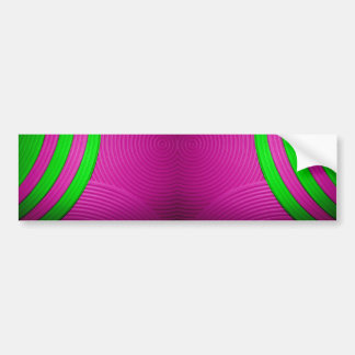 10 Pink & Green Bumper Sticker Car Bumper Sticker