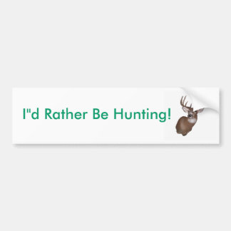 10 Point Buck Bumper Sticker