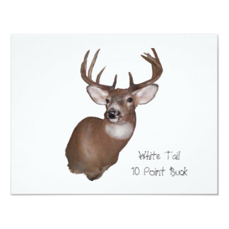 10 Point Buck 4.25x5.5 Paper Invitation Card