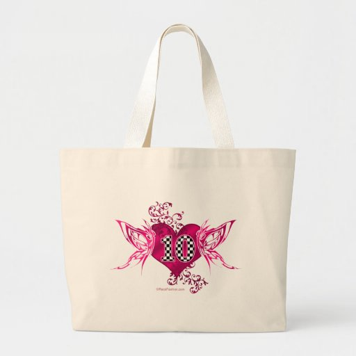 10 Racing number with butterflies Tote Bags