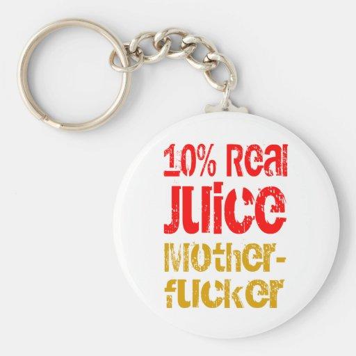 10% Real Juice Motherfucker Basic Round Button Keychain