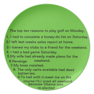 10 reasons to play golf on Monday Plate