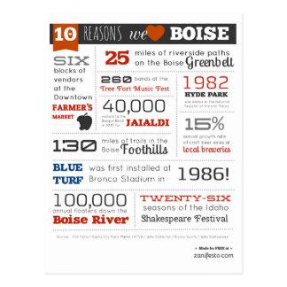 10 Reasons We Love Boise Idaho Postcard