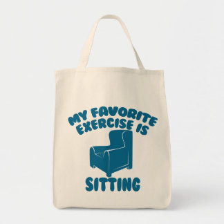 10 Reps of the Sitting Exercise Funny Tote Bag