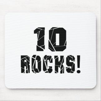 10 Rocks Birthday Designs Mouse Pad