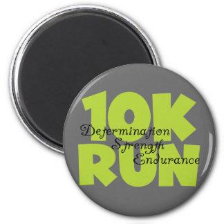 10 Run Spring Green Fridge Magnet