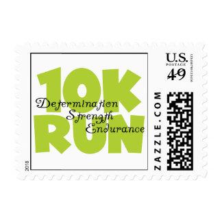 10 Run Spring Green Postage