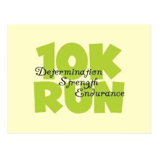 10 Run Spring Green Postcard