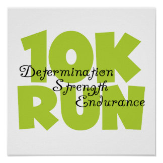10 Run Spring Green Poster