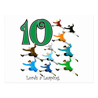 10 señores Leaping Postal