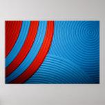 10 solos círculos y poster azules y rojos de las c
