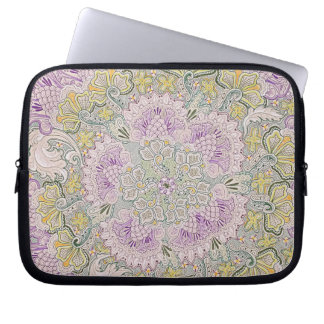 """10"""" tablet or ipad sleeve with thistles design laptop sleeve"""