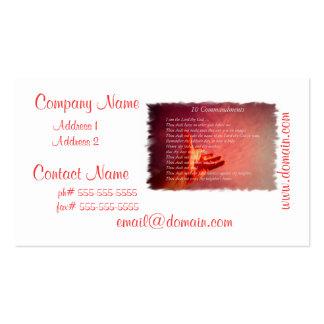 10 tarjetas de visita de los mandamientos