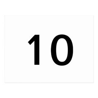 10 TARJETAS POSTALES