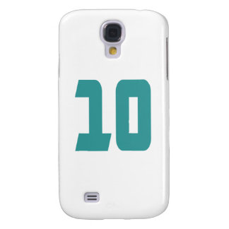 #10 Teal Bold Galaxy S4 Case