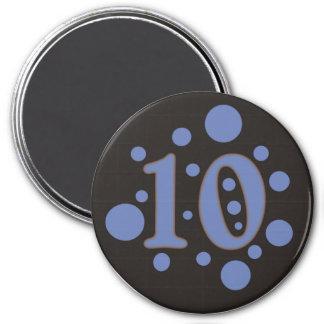 10-Ten 3 Inch Round Magnet