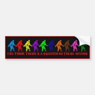 10 TEN LITTLE SQUATCHES - Colorful Finding Bigfoot Bumper Sticker