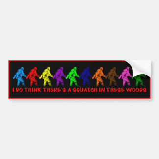 10 TEN LITTLE SQUATCHES - Colorful Finding Bigfoot Car Bumper Sticker