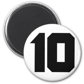 10 ten number 2 inch round magnet