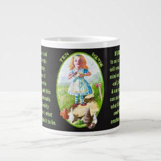 10. Ten of Wands - Alice tarot Large Coffee Mug