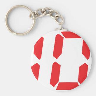 10 ten  red alarm clock digital number basic round button keychain