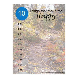 10 Things that make me Happy - Fall Card