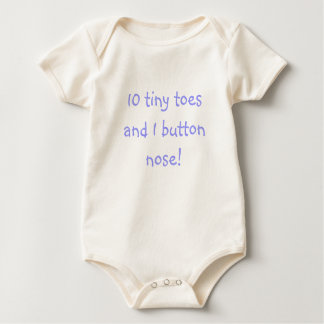 10 tiny toes and 1 button nose! - Blue Baby Bodysuit