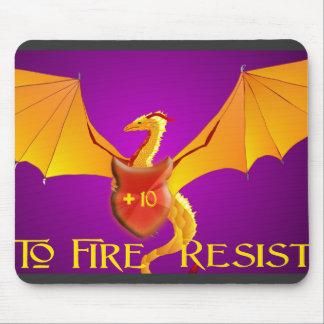 +10 to Fire Resist Golden Dragon Mousepad