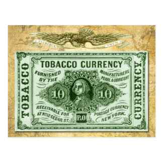 10¢ Tobacco Currency Postcard