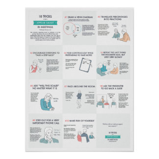 10 Tricks to Appear Smart in Meetings Poster