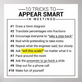 10 trucos a aparecer elegantes durante el poster póster