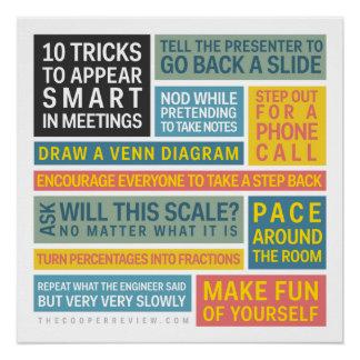 10 trucos a aparecer elegantes durante reuniones perfect poster