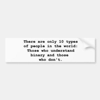 10 Types of People Bumper Sticker