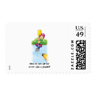 10_Up_the_creek Postage