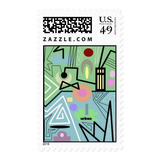 10 urbanos abstractos sello