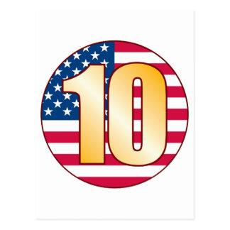 10 USA Gold Postcard