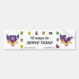 10 ways bumper TXSG flags, TXSG flags Car Bumper Sticker