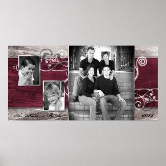 "10""x20"" 3 Slot Family Collage Montage Steel Magnol Print"