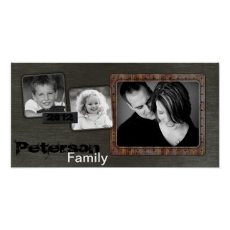 "10""x20"" 3 Slot Family Collage Montage Urban Blade Poster"