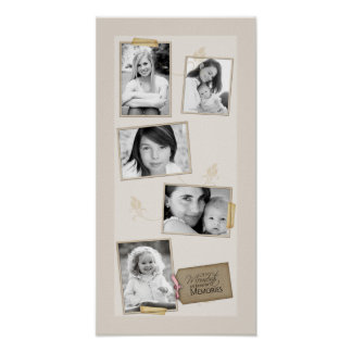 "10""x20"" 5 Slot Family Collage Montage Todays Momen Poster"