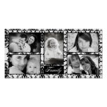 """10""""x20"""" 5 Slot Personalized Family Collage Montage Print"""