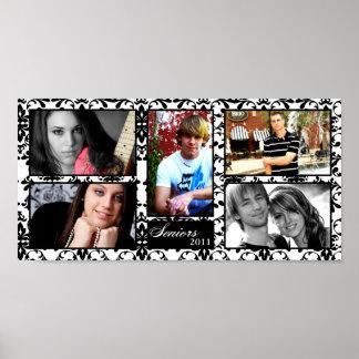"10""x20"" 5 Slot Personalized Senior Collage Montage Print"