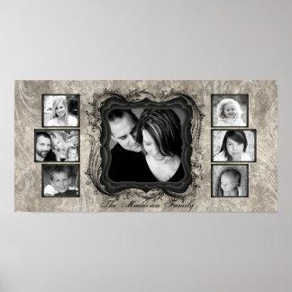 "10""x20"" 7 Slot Family Collage Montage Rejoioce Print"